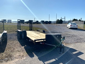 Skid Steer Trailer 20ft 10400 GVW By Gator  Skid Steer Trailer 20ft 10400 GVW By Gator. Stand up ramps, 6 lug axles, and radial tires.