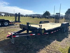 Skid Steer Trailer 20ft 14k By Gator  Skid Steer Trailer 20ft 14k By Gator. Tube frame, extra wide ramps, and adjustable coupler.