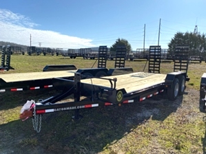 Skid Steer Trailer 16000 GVW By Gator  Skid Steer Trailer 16000 GVW By Gator. Industrial design, heavy duty 8k axles, and diamond tread fenders.