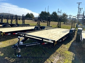 Skid Steer Trailer With 6 Lug Axles  Skid Steer Trailer With 6 Lug Axles. 6 lug dexter axles, powder coat finish, and stand up loading ramps.