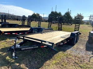 Skid Steer Trailer 16ft By Gator  Skid Steer Trailer 16ft By Gator. 16ft long x 82in wide, dexter axles, and LED lights.