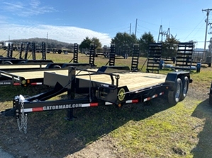 Skid Steer Trailer With Tube Frame By Gator  Skid Steer Trailer With Tube Frame By Gator. Tube frame, 8 lug axles, and self cleaning dovetail.