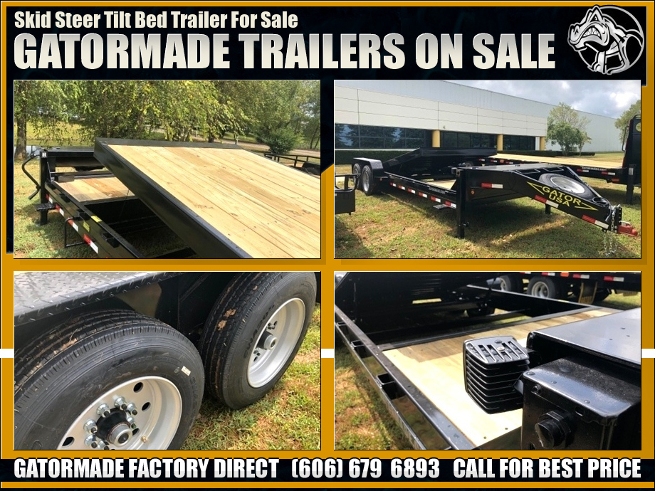 Skid Steer Trailer Tilt Bed