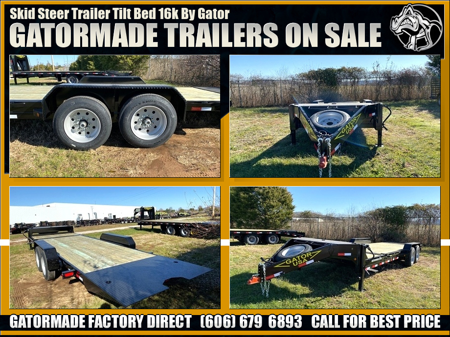 Image Skid Steer Trailer Tilt Bed