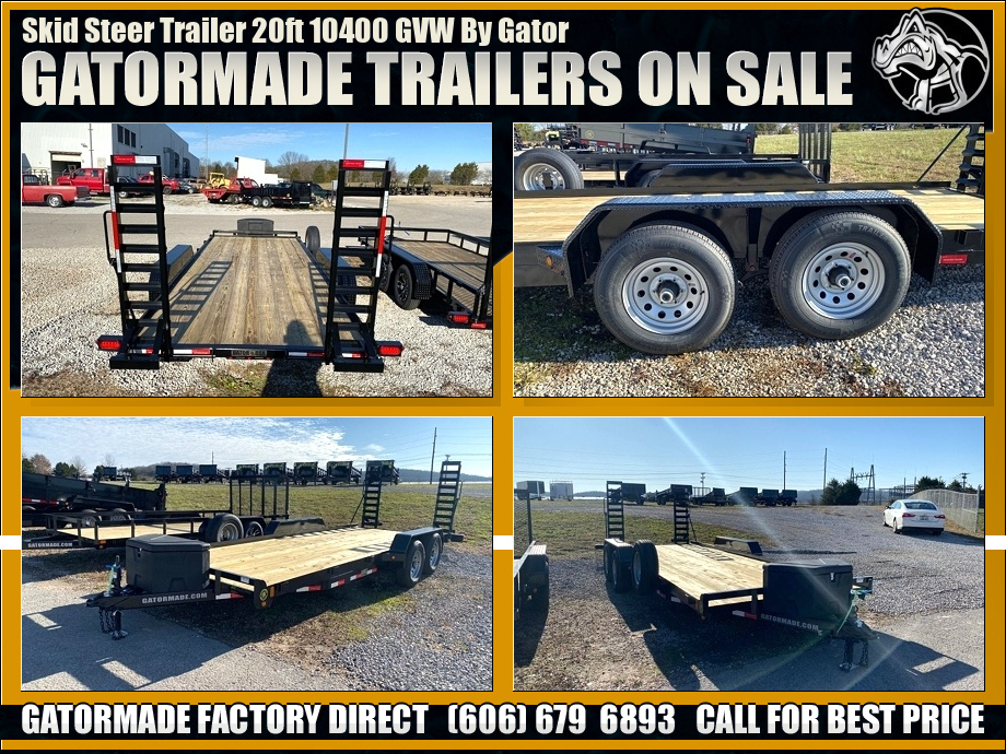 Skid Steer Trailer With Ramps