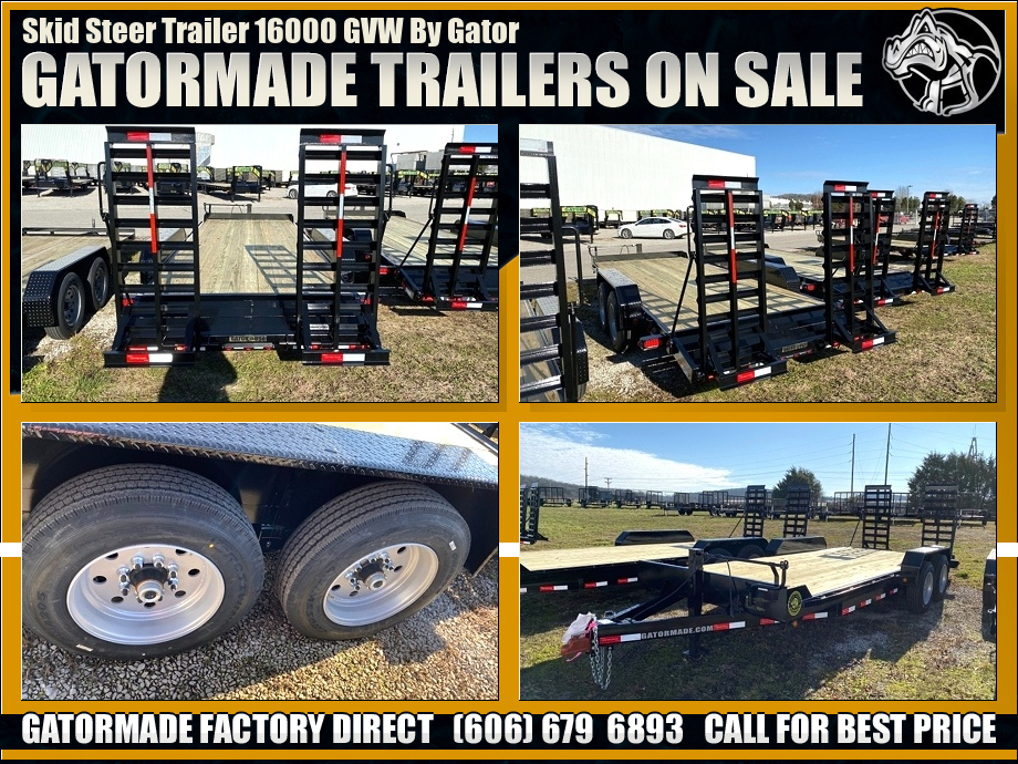 Image Skid Steer Trailer With Ramps